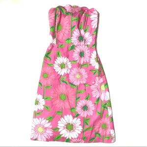 Lily Pulitzer Floral Strapless Dress